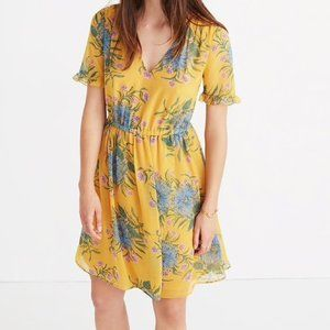 Madewell sweetgrass painted blossom dress